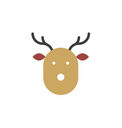christmas deer icon simple design vector image