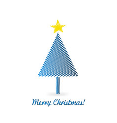 christmas tree isolated design vector image