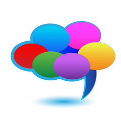 Cloud of speech bubbles icon vector