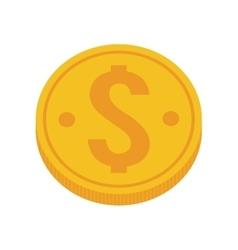 Coin dollar isolated icon vector