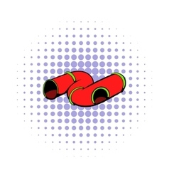 Colorful tube a playground icon comics style vector image