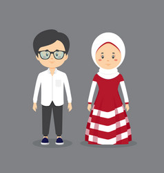 Couple character wearing casual clothes vector