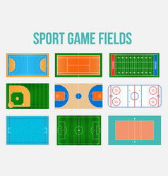 Creative of sport game fields vector