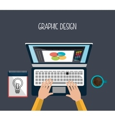 Creative process graphic design vector