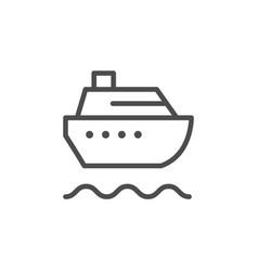 Cruise ship line outline icon vector