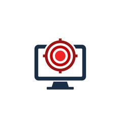 Desktop target logo icon design vector