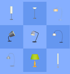 elegant lamps collection vector image