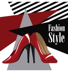 fashion style accessory red heel wo vector image