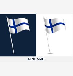finland flag waving national flag finland vector image