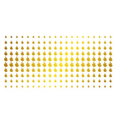 fire flame gold halftone matrix vector image