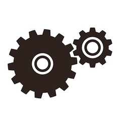 Gears cogs icon vector