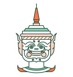 Giant khon thailand linecolor vector