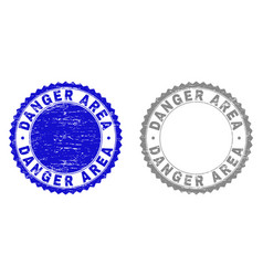 grunge danger area scratched watermarks vector image
