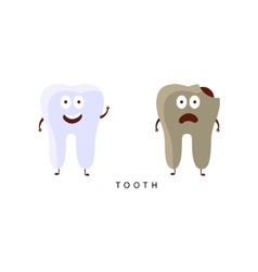Healthy vs Unhealthy Tooth Infographic vector