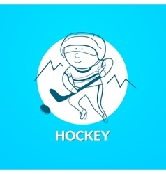 Hockey logo vector