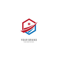 home property symbol logo vector image
