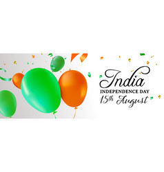 india independence day party balloon web banner vector image