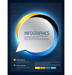 infographic design of speech bubble vector image