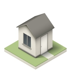 Isometric little house vector image