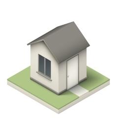 Isometric little house vector image