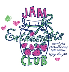 Jam enthusiasts print vector