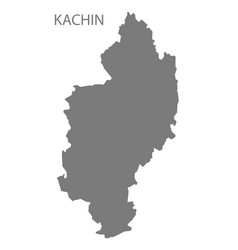 Kachin myanmar map grey vector
