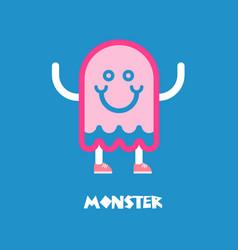 Kids monster logo vector
