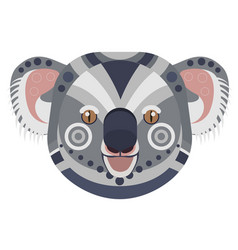 koala head logo exotic bear decorative vector image