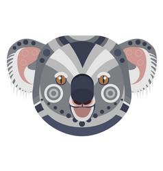 koala head logo exotic bear decorative vector image