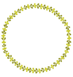 Laurel green wreath decorative frame isolated vector