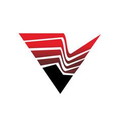 Letter v layer vector