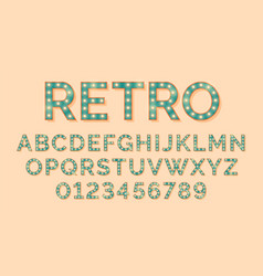 light bulb letters retro text lightbulb alphabet vector image