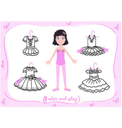 little ballet dancer doll vector image