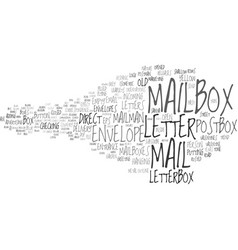 Mailbox word cloud concept vector