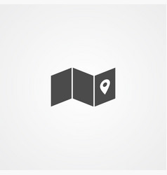 map icon sign symbol vector image