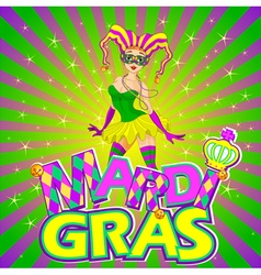 Mardi Gras Girl Design vector