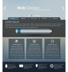 Menu design for web site vector