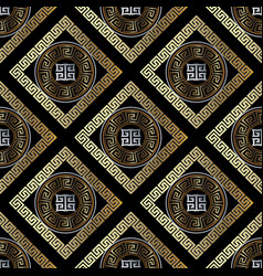 modern geometric greek key seamless pattern vector image