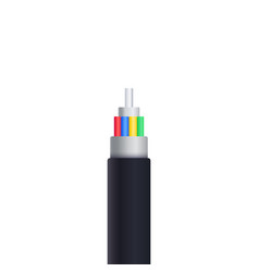 optic fiber cable isolated on white vector image