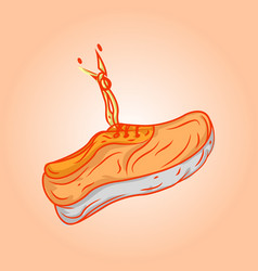 orange shoes vector image