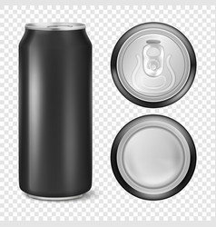 realistic 3d empty glossy metal black vector image