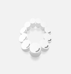 Realistic paper sticker necklace vector