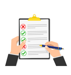 report file in the hand vector image