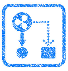 ripple cashflow framed stamp vector image