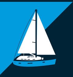 sailboat navigation symbol vector image