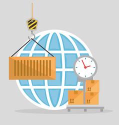 scale balance logistic service vector image