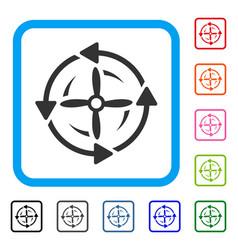 Screw rotation framed icon vector