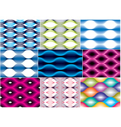 seamless geometric patterns set geometric simple vector image