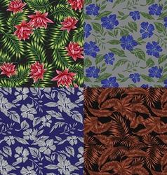 Seamless Tropical Print Set vector image vector image