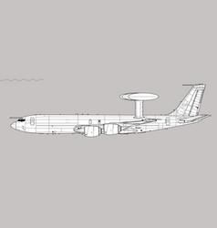 Sentry aew1 boeing e-3d vector
